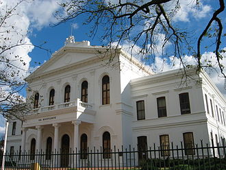 Stellenbosch University - The Ou Hoofgebou (Former Main Administration building, now the Law Faculty) on Stellenbosch University campus