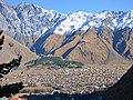 Stepantsminda, view from Gergeti.jpg