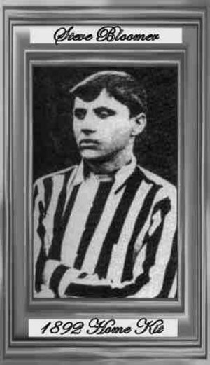 Steve Bloomer - Bloomer as a Derby player in 1892