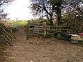 Stile on Public Footpath from Wrangbrook to Skelbrook - geograph.org.uk - 611243.jpg