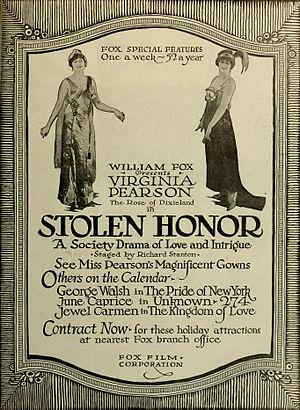 Virginia Pearson - Image: Stolen Honor 1917