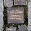 Stolperstein Am Eckenheimer Friedhof 1 für Elisabeth Kersten für Commons.wikimedia freigegeben von der Initiative Stolpersteine Frankfurt am Main