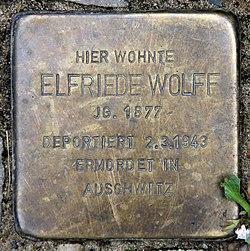 Photo of Elfriede Wolff brass plaque