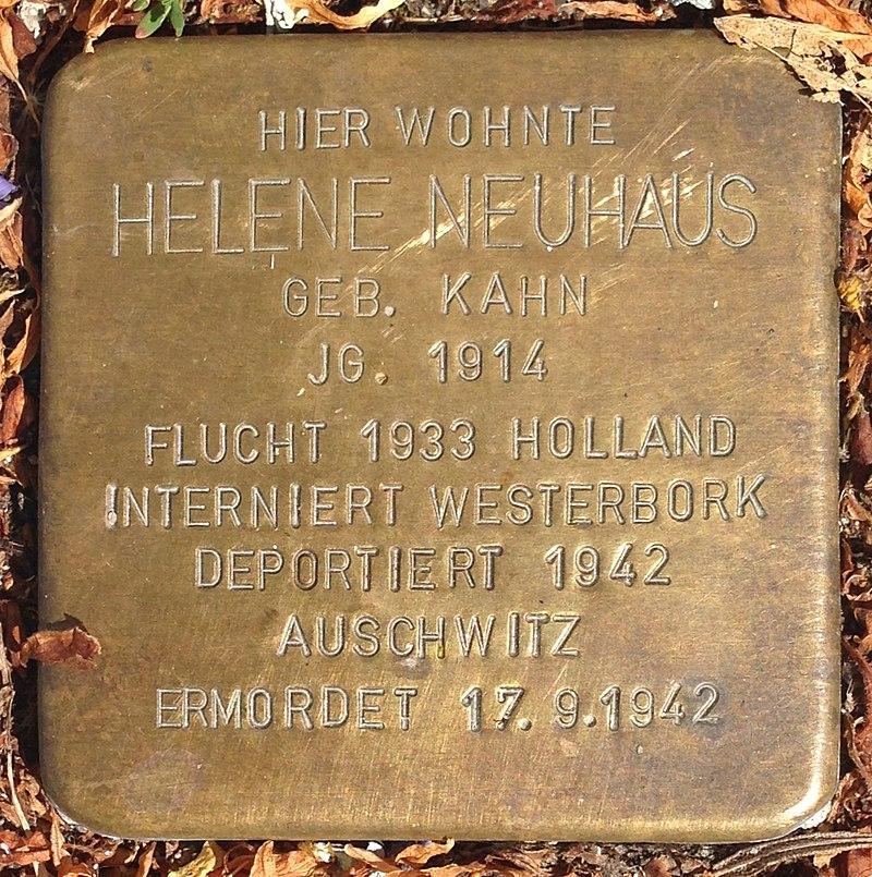 Stolperstein Hadamar Neumarkt 17 Helene Neuhaus