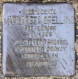 Photo of Margareta Alma Grelling brass plaque