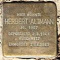 Stolperstein Stierstr 21 (Fried) Herbert Altmann.jpg