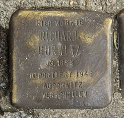 Photo of Richard Hurwitz brass plaque
