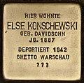 Stolperstein für Else Konschewski (Cottbus).jpg