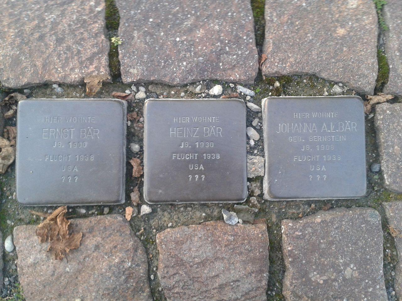 Stolpersteine Wissen Maarstrasse Familie Bär.jpg
