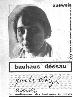 Gunta Stölzl - Image: Stolzl bauhaus ausweis