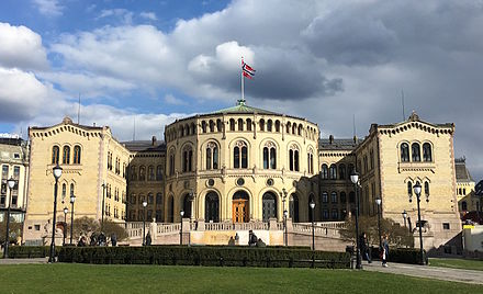 The Storting is the Parliament of Norway. Storting Spring 2016.JPG