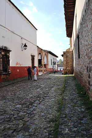 Pátzcuaro - Street in front of Casa de los Once Patios