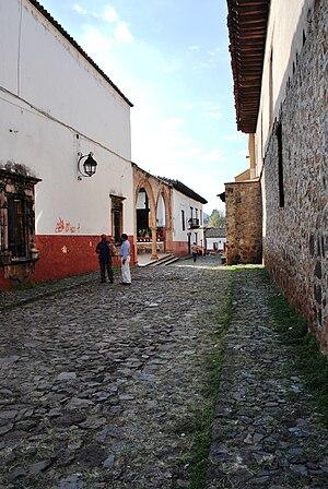 Pátzcuaro - Street in front of Casa de los Once Patios