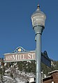Street lamp and street sign Aspen Mill Street Durant Av.jpg
