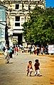 Street scene of the Hampi Bazaar (5581382940).jpg