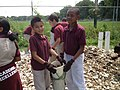 Students from West Ave. School with a complete shell bag (17771772343).jpg