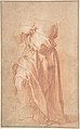 Study of a Headless Draped Figure with Arms Crossed; verso- Figure of a Man in a Voluminous robe, Seen from Behind MET DP801120.jpg