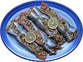 Stuffed trout - Stuffed with rice, prawns, mushroom, leek, yellow pepper and pine nuts.jpg