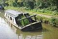 Sunken narrowboat at Kerridge - geograph.org.uk - 2054650.jpg