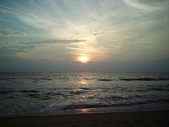 Thekkumbhagam - Image: Sunset @ Paravur Beach