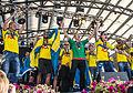 Sweden national under-21 football team celebrates in June 2015-2.jpg