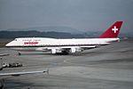 """Swissair Boeing 747-357 HB-IGF """"Zürich"""" (27487433646).jpg"""