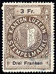 Switzerland Lucerne 1897 revenue 6 3Fr - 63 - E 1 97.jpg