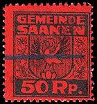 Switzerland Saanen revenue stamp 50rp - 21.jpg
