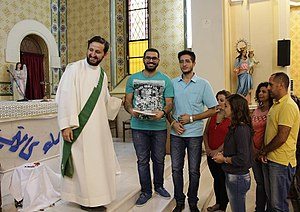 Christianity in Syria - Syrian Christians in a Catholic Church in Damascus - 2017