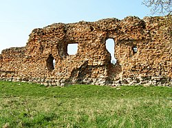 Ruins of the castle in Szubin