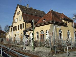 Ammer Valley Railway - Tübingen West station