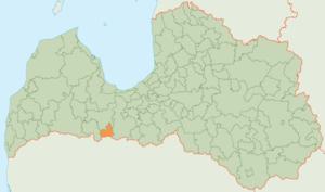 Tērvete Municipality - Image: Tērvetes novada karte