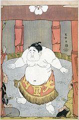 Daidōzan Bungorō no dohyō-iri (middle)