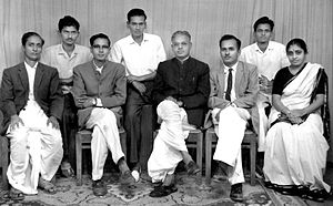 G. S. Shivarudrappa - G. S. Shivarudrappa (third from left on chair) with T. V. Venkatachala Sastry (second from left – on chair) while at University of Mysore