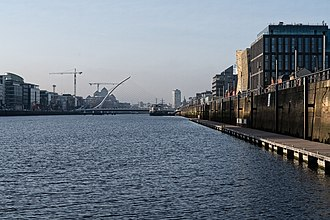 Dublin Docklands - Dublin Docklands viewed from east to west