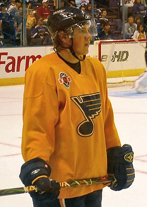 T.J. Oshie at the 2008 Blues FanFest.