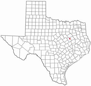 Mexia, Texas - Image: TX Map doton Mexia