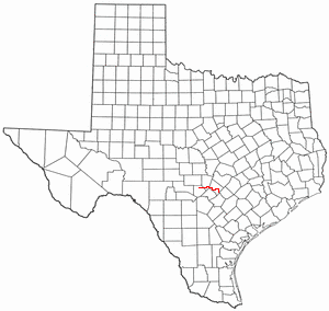Blanco River (Texas) - Location of the Blanco River in central Texas
