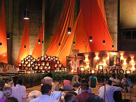 Ecumenical worship service at the monastery of Taizé in France Taizé prayer.JPG