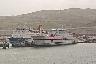 Trasmediterránea - Ciudad de Malaga, an historic vessel on the Tanger - Algeciras