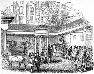 Tattersalls - Tattersall's at Hyde Park Corner in 1842.