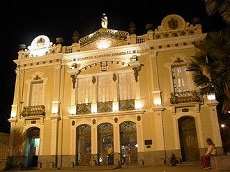 Alberto Maranhão Theatre - Exterior view at night