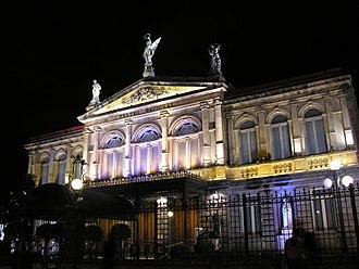 National Theatre of Costa Rica - Image: Teatro Nacional at Night