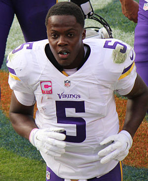 Teddy Bridgewater - Bridgewater with the Minnesota Vikings in 2015