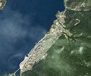 Tekija (Kladovo) - Image: Tekija Kladovo Satellite