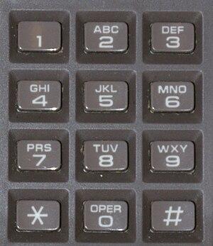 Keypad - A telephone keypad