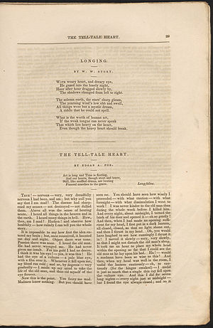 "The Tell-Tale Heart - ""The Tell-Tale Heart"" in The Pioneer: A Literary and Critical Magazine, page 29"