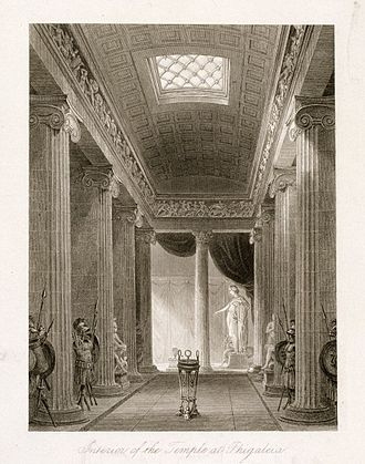 Charles Robert Cockerell -  Cockerell's depiction of the temple of Apollo at Bassae, 1860