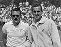 Tenniskampioenen te Noordwijk - Jaroslav Drobný and Neale Frazer - Bestanddeelnr 907-8785.jpg