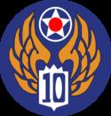 10th air force usaaf emblem